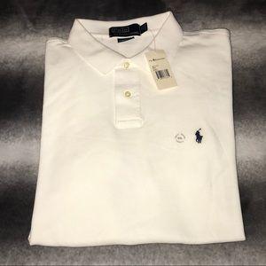 🆕 POLO Classic White Polo w/Navy Logo